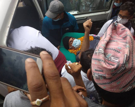 Dr KC airlifted from Jumla
