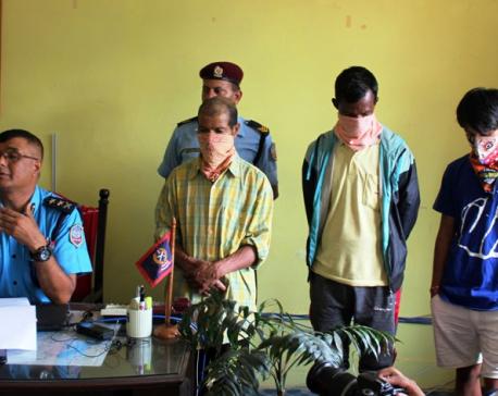 Three accused presented to media