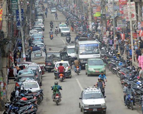 143 Temporary parking lots designated in Kathmandu Valley