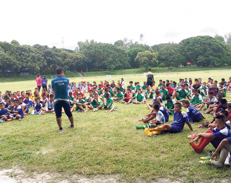 Football camp at Mini Brazil