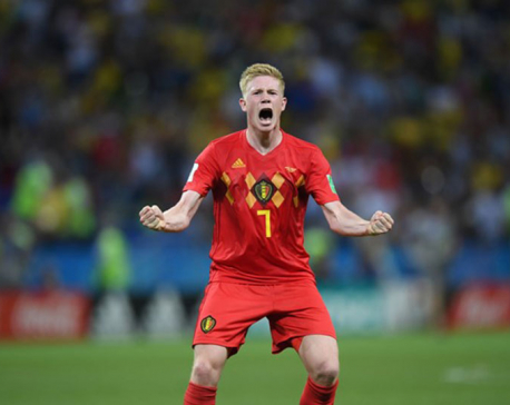 Belgium hold off Brazil fightback to reach semi-finals