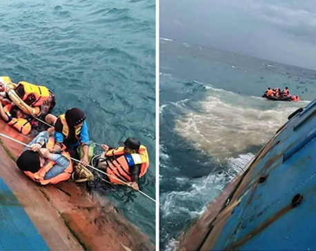 Captain of sinking Indonesian ferry sails onto reef; 31 dead