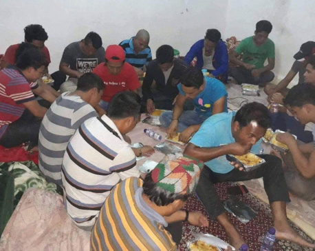 Stranded Nepali workers provided food in Saudi