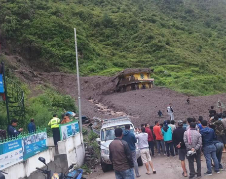 1 dies, 8 missing in Rasuwa landslide