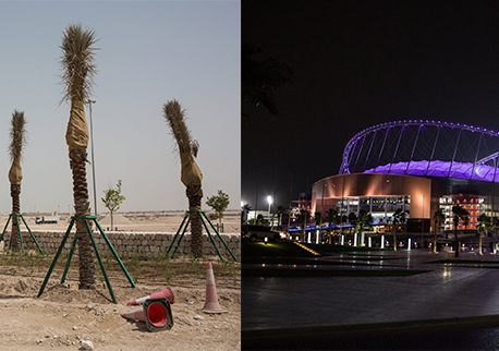 Desert being turned green for the 2022 World Cup
