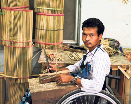 Souls of my city:  Sports star on a wheelchair