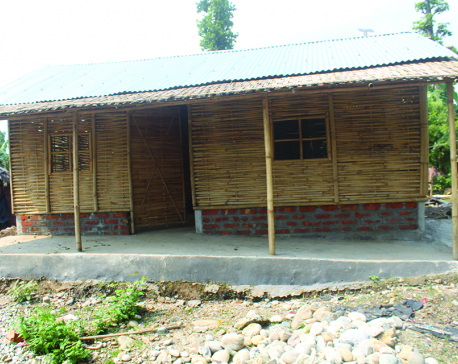 Durable cottages being built against refugee and local's wishes