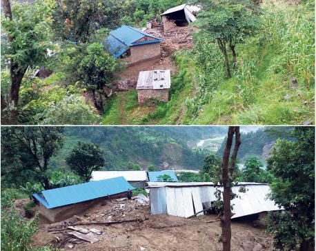 Landslides once again wreak havoc in Saiswara village