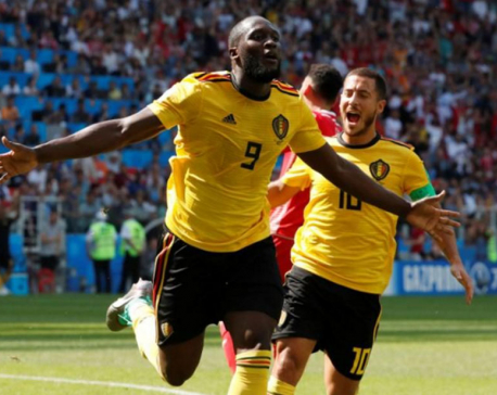 Two each for Hazard and Lukaku as Belgium thump Tunisia 5-2
