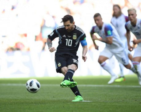 Iceland holds Argentina to 1-1 draw as Messi misses penalty
