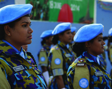 Salute the peacekeepers