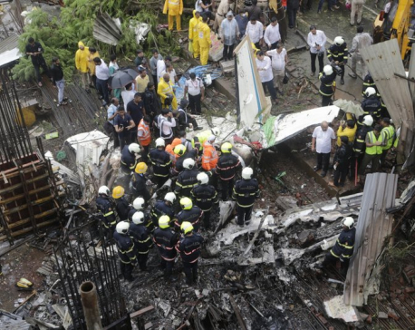 Chartered plane crashes in Mumbai; at least 6 people dead