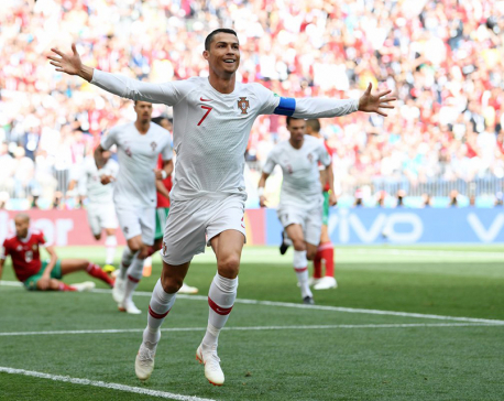 Ronaldo header knocks Morocco out  of World Cup