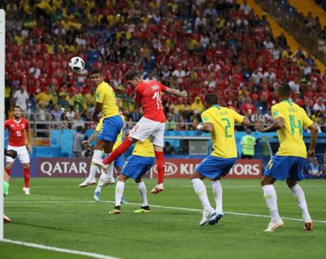 Brazil held by Switzerland