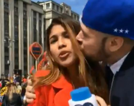 World Cup 2018: Female reporter groped and kissed on air