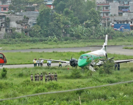 Yeti Airlines narrowly escapes accident at Pokhara airport