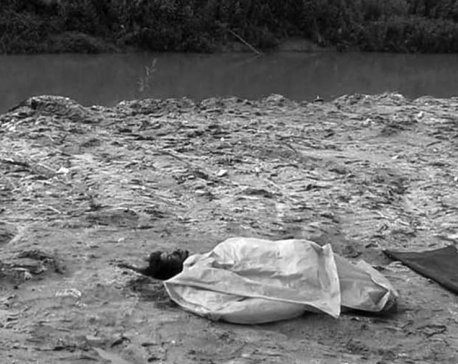 Dead body found at Makalbari river bank