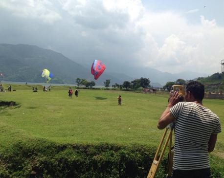 Probe committee measures Karna Shakya's hotel in Pokhara