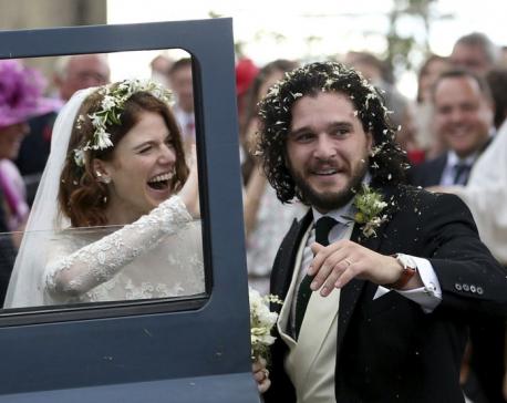 'Game of Thrones' co-stars Kit Harington, Rose Leslie wed