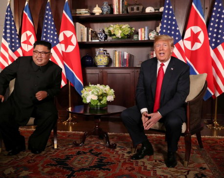 Trump, Kim confident but body language reveals nerves at first meeting