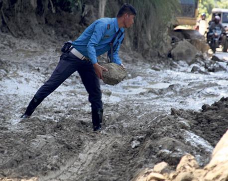 Landslide at Siddhababa blocks Siddhartha highway