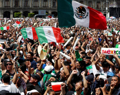 Mexico World Cup fans jump with joy, cause small earthquake