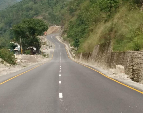 Blacktopping of Narayangadh-Mugling road completes, opens for 24 hours