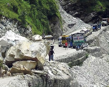 Landslides obstruct highways