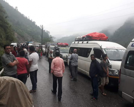One-way traffic resumes along Narayangadh-Mugling route