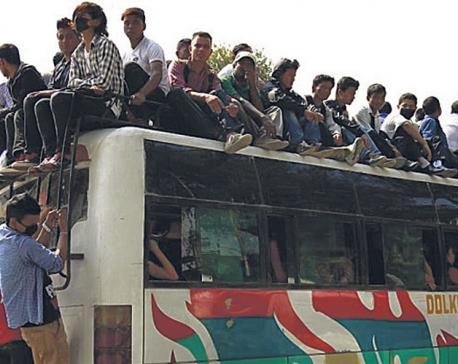 Struggling passenger