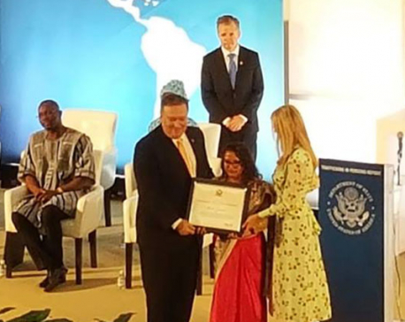 Sunita Danuwar awarded by the US State Department Award