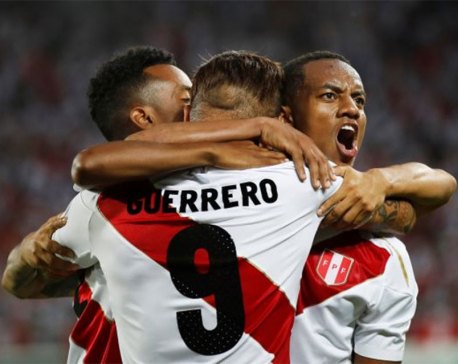 Guerrero scores twice on Peru comeback after doping reprieve