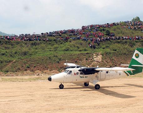 Tara Air successfully conducts test flight at Sukilumba airport