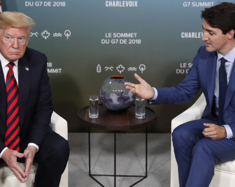 Trump pulls out of joint G-7 statement, attacks Trudeau