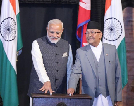 TWO PMs jointly lay foundation for Arun III