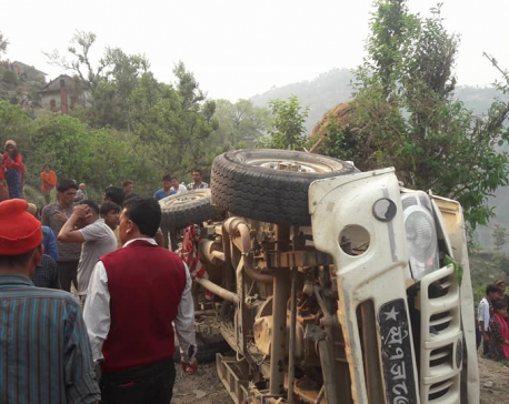 Three dead, 9 injured in Doti jeep accident