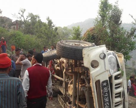 Three dead, 9 injured in Doti jeep accident