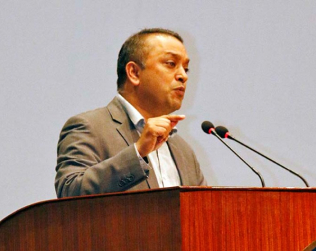 Lawmaker Gagan Thapa lashes out at PM Oli for his 'double personality'
