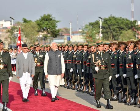 Indian PM Narendra Modi  conferred Guard of Honor