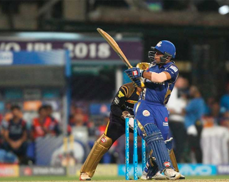 Mumbai Indians presents target of 211 runs for Kolkata