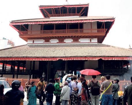 Kasthamandap reconstruction work sees 90 percent progress