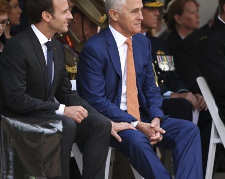 Faux pas: France's Macron says Aussie PM's wife 'delicious'