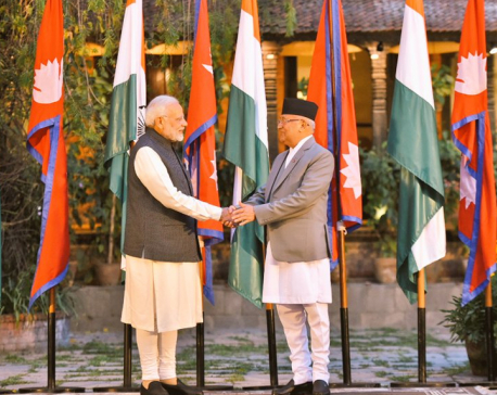 PM Oli, Modi hold one-on-one talks at Dwarika's Hotel