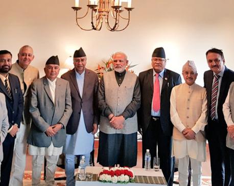 Nepali Congress leaders meet Indian PM Modi