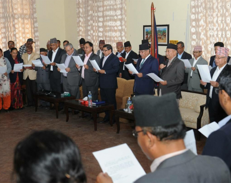 Newly appointed CC members of Unified party administered oath