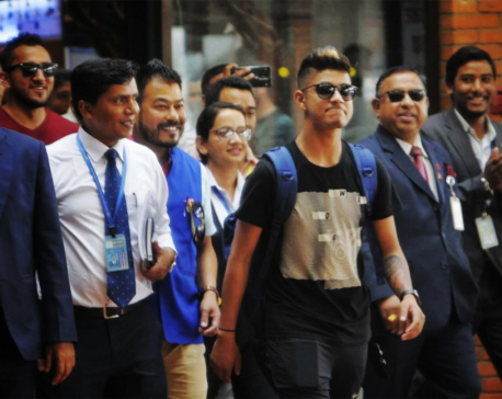 Youth spinner Lamichhane returns home