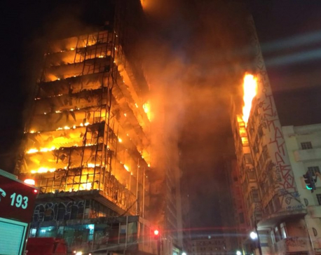 Building in Sao Paulo collapses in fire; at least 1 dead