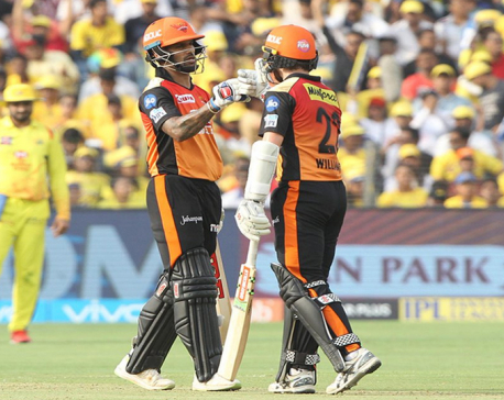 Sunrisers Hyderabad sets target of 180 runs for Chennai Super Kings