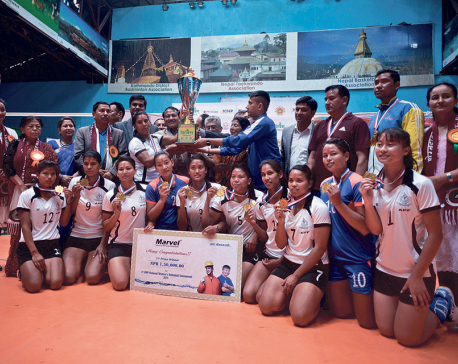 Armed Police Force clinches fourth KNP Volleyball trophy in four years