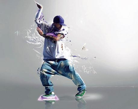 Dancing like a mad man